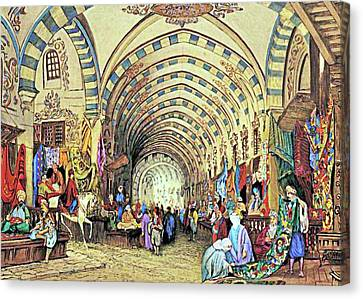 Istanbul Old Market Canvas Print by Munir Alawi