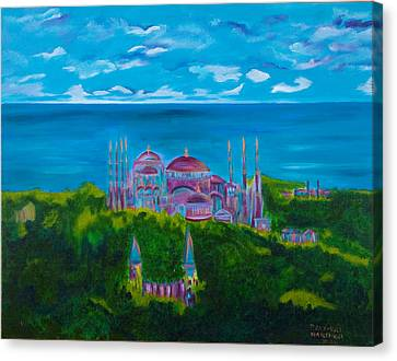 Istanbul Skyline Canvas Print by Dani Altieri Marinucci