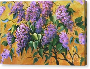 It Is Lilac Time 2 Canvas Print by Marta Styk