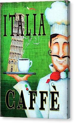 Italia Caffe Canvas Print by Roberto Prusso