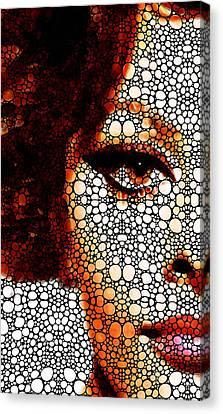 Italian Beauty Sophia Loren Tribute  Canvas Print by Sharon Cummings