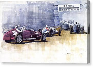 Italian Gp1937 Livorno  Canvas Print by Yuriy  Shevchuk