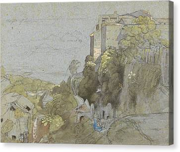 Italian Hill Town Canvas Print by Samuel Palmer
