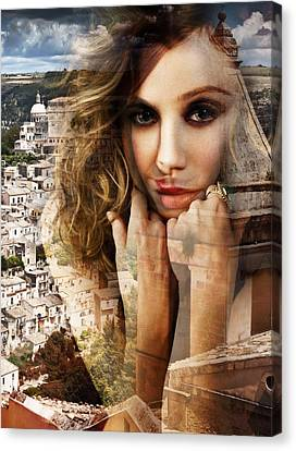 Francesca In Her Thoughts Canvas Print by Maciej Mackiewicz