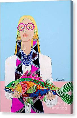 It's A Fish Canvas Print by Amy Sorrell