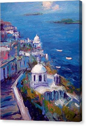 Its A Santorini Kind Of Mood Canvas Print by R W Goetting