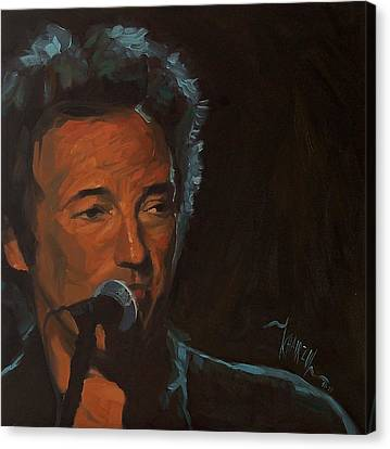 It's Boss Time - Bruce Springsteen Portrait Canvas Print by Khairzul MG