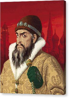Ivan The Terrible Canvas Print by English School
