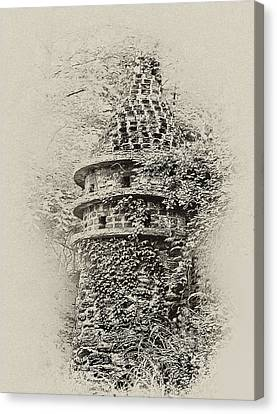 Ivy Covered Castle In The Woods Canvas Print by Bill Cannon