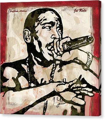 Ja Rule Pop Stylised Art Sketch Poster Canvas Print by Kim Wang