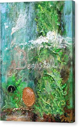 Jack And The Beanstalk Canvas Print by Jennifer Kelly