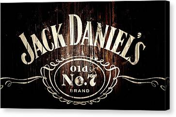 Jack Daniel's Barn Door Canvas Print by Dan Sproul