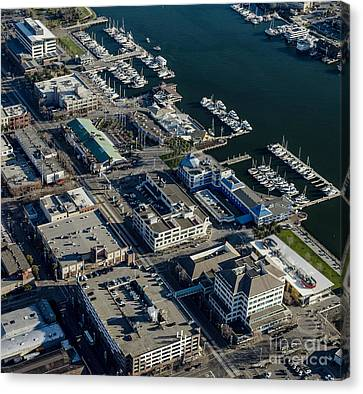 Jack London Square Aerial Photo Canvas Print by David Oppenheimer