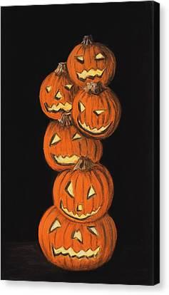 Jack-o-lantern Canvas Print by Anastasiya Malakhova