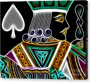 Jack Of Spades - V4 Canvas Print by Wingsdomain Art and Photography
