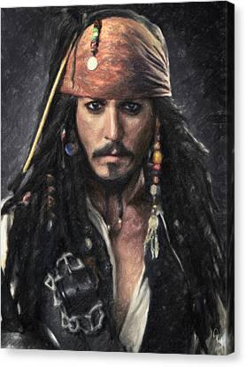 Jack Sparrow Canvas Print by Taylan Soyturk