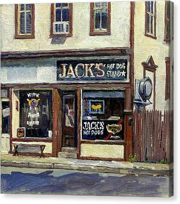 Jack's Hot Dogs North Adams Canvas Print by Thor Wickstrom