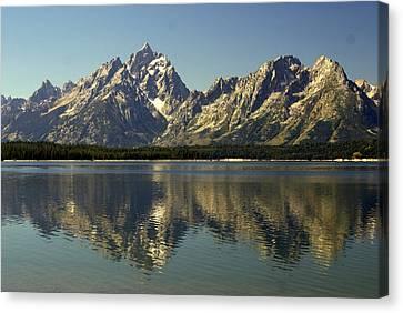 Jackson Lake 2 Canvas Print by Marty Koch