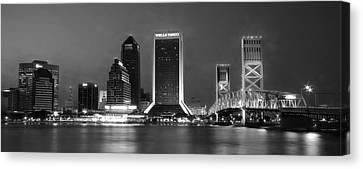 Jacksonville At Night Canvas Print by Lori Deiter