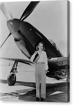 Jacqueline Cochran 1906-1980 American Canvas Print by Everett