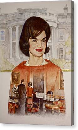 Jacqueline Kennedy Onassis  Canvas Print by Cliff Spohn