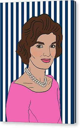 Jacqueline Kennedy Onassis Canvas Print by Nicole Wilson