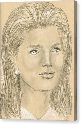 Jacqueline Kennedy Canvas Print by P J Lewis