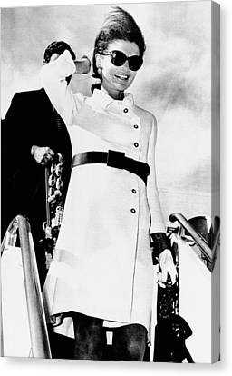 Jacqueline Kennedy, Wearing A White Canvas Print by Everett
