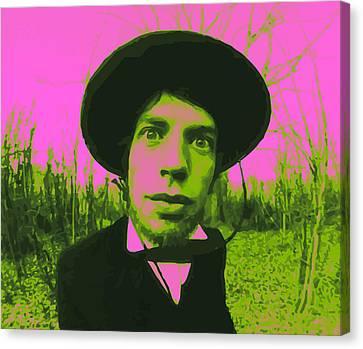 Mick Jagger Poster Canvas Print featuring the digital art Jagger 02 by Daniel elias Bravo
