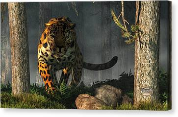 Jaguar Canvas Print by Daniel Eskridge