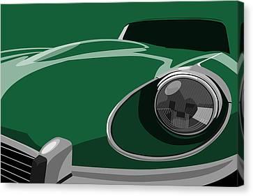 Jaguar E-type Canvas Print by Michael Tompsett