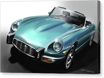 Jaguar E-type Canvas Print by Uli Gonzalez