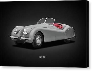 Jaguar Xk120 Canvas Print by Mark Rogan