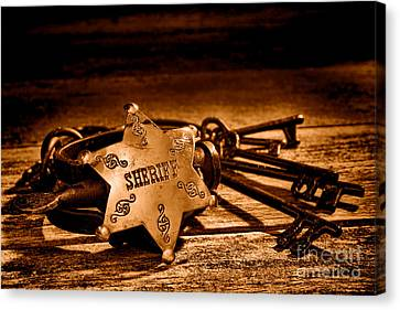 Jailer Tools - Sepia Canvas Print by Olivier Le Queinec