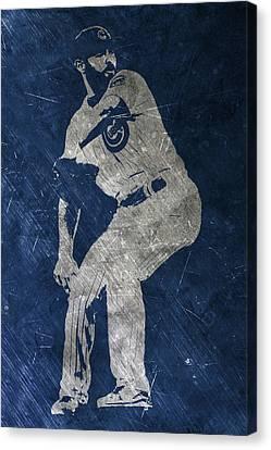 Jake Arrieta Chicago Cubs Art Canvas Print by Joe Hamilton