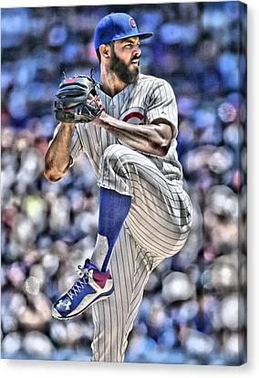 Jake Arrieta Chicago Cubs Canvas Print by Joe Hamilton