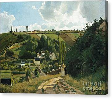 Jalais Hill At Pontoise Canvas Print by Camille Pissarro