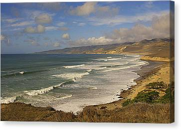 Jalama Beach From Blufftop Canvas Print by Ron Regalado