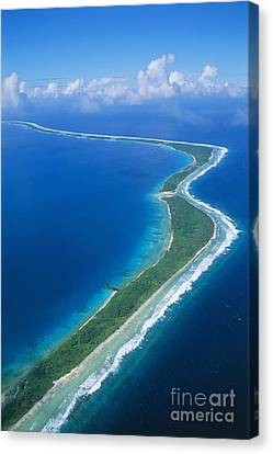 Jaluit Atoll And Lagoon Canvas Print by Greg Vaughn - Printscapes