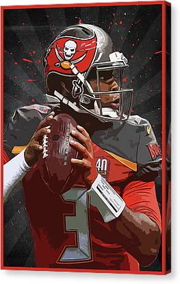 Jameis Winston Canvas Print by Semih Yurdabak