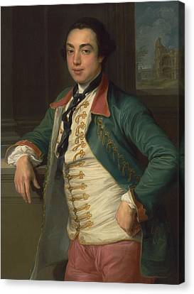 James Caulfeild, 4th Viscount Charlemont Canvas Print by Pompeo Batoni