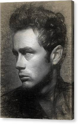James Dean Drawing Canvas Print by Quim Abella