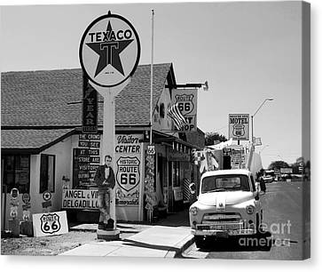 James Dean On Route 66 Canvas Print by David Lee Thompson