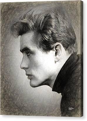 James Dean Sketch Canvas Print by Quim Abella