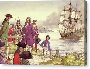 James Edward Stuart, The Old Pretender, Departs For France From Scotland Canvas Print by Pat Nicolle