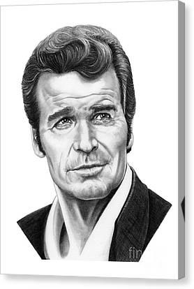 James Garner Canvas Print by Murphy Elliott