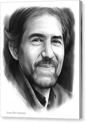 James Roy Horner Canvas Print by Greg Joens