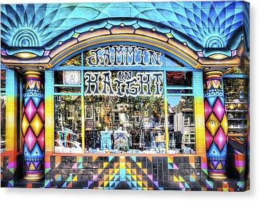 Jammin On Haight Store Front - Haight District - San Francisco Canvas Print by Jennifer Rondinelli Reilly - Fine Art Photography