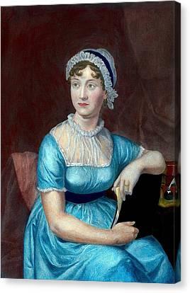 Jane Austen 1775-1817 English Novelist Canvas Print by Everett