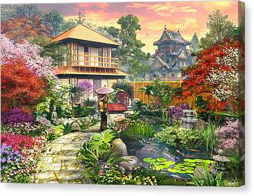 Japan Garden Variant 2 Canvas Print by Dominic Davison